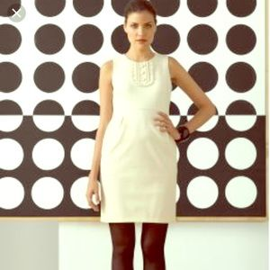 Banana Republic Cream shift dress with pockets!
